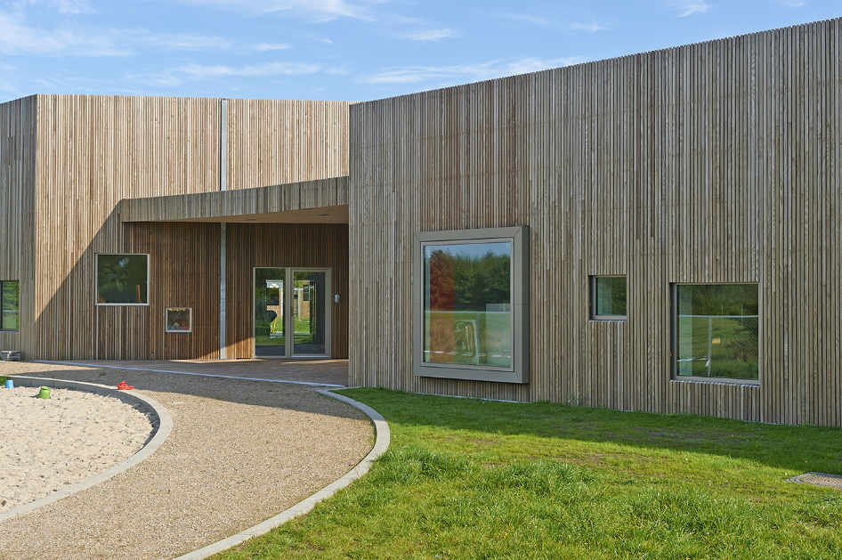Thermory ash cladding commercial