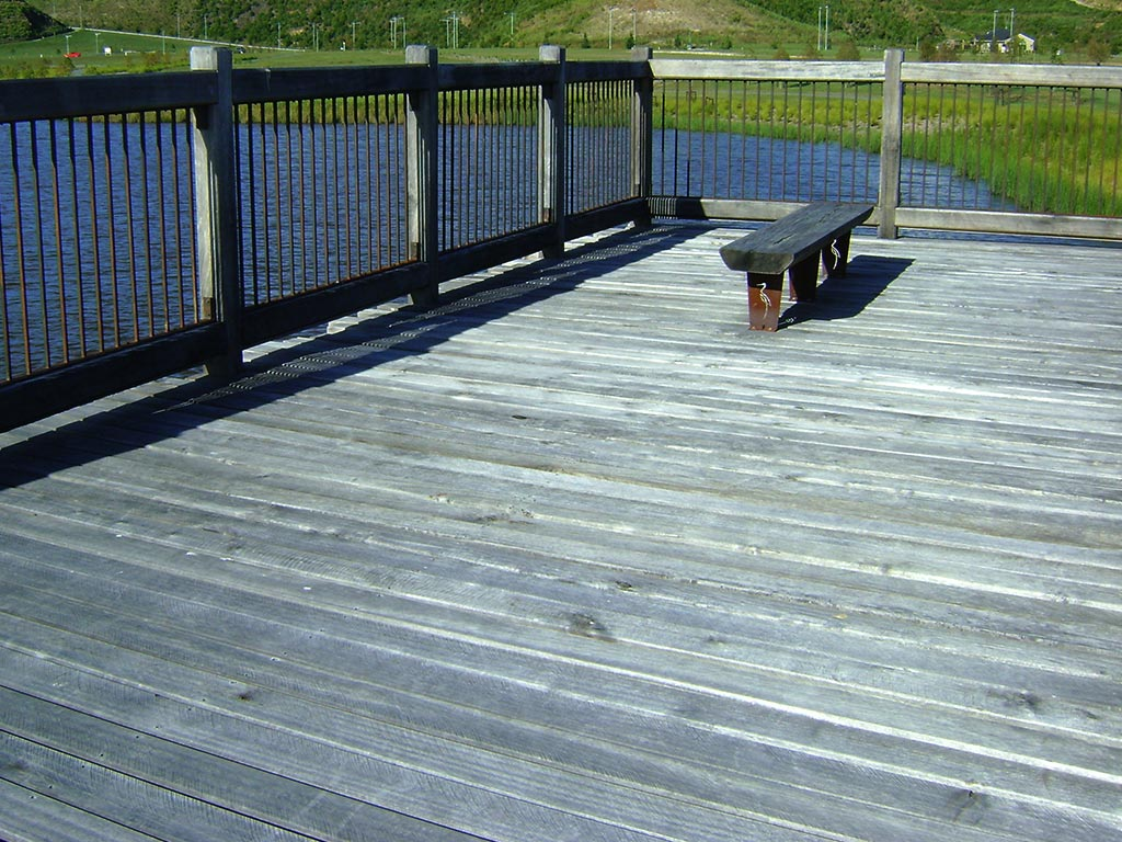Timber decking the lakes